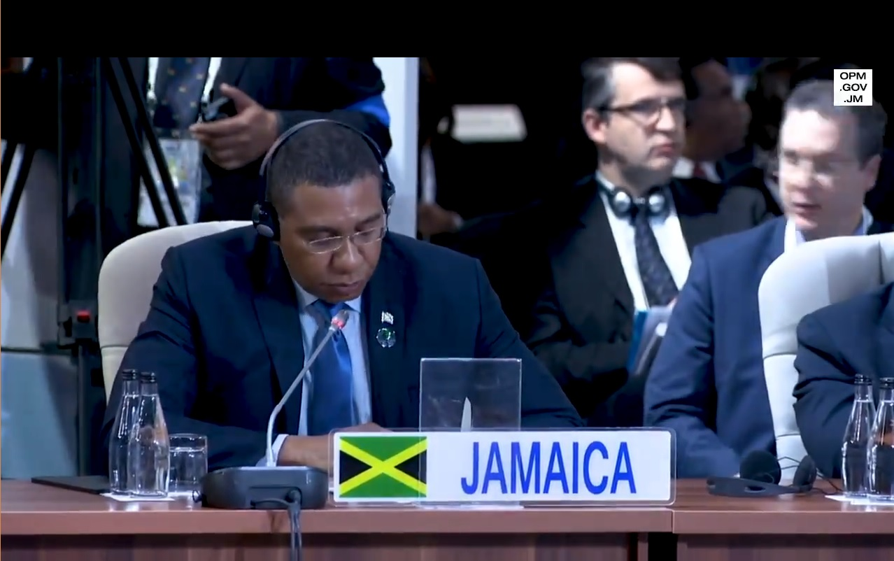 Andrew Holness address BRICS