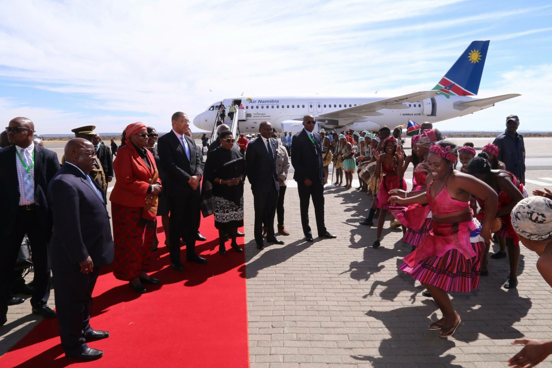 Andrew Holness arrives in Namibia_o