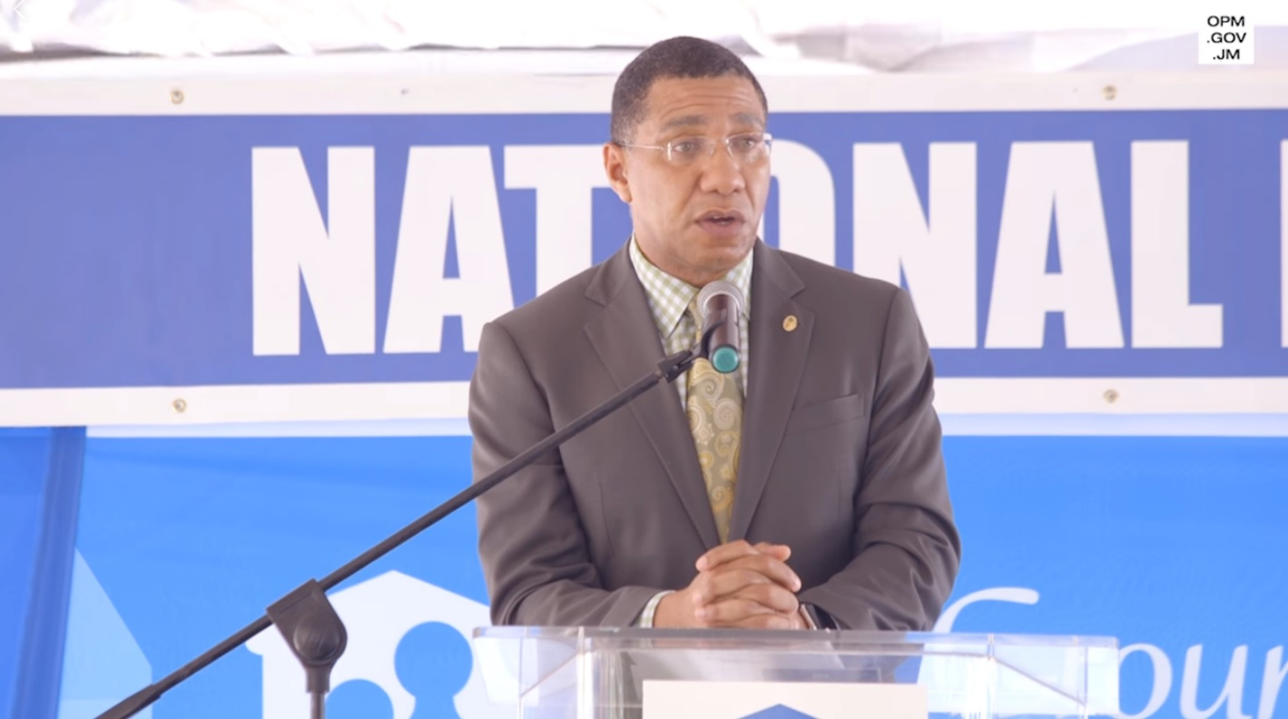 Andrew holness address corruption