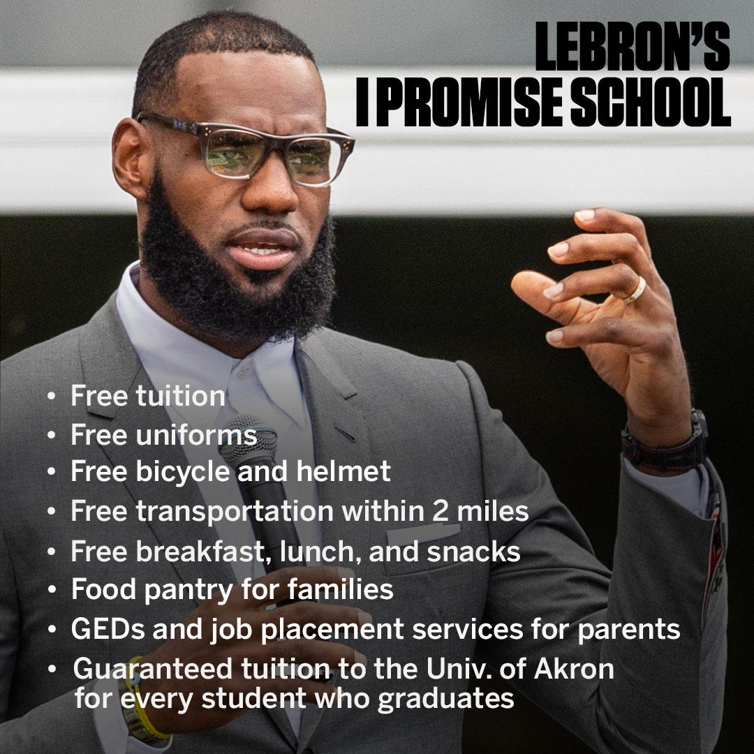 Lebron James Opened School For Underprivileged Kids And Responded To Presidential Run President Trump Insults Lemon And James In One Tweet Jamaica Live