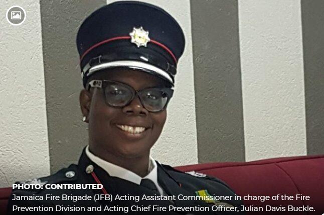 Women fire fighter in Jamaica