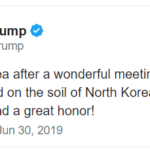 Trump Tweet about NK