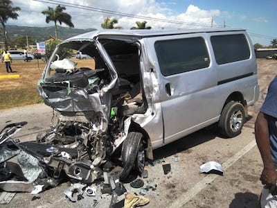 Minibus that crashed into JUTC bus