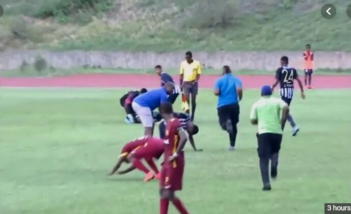 A lightning strike forced the cancellation of the Manning Cup match between Wolmer s Boys and Jamaica College on Monday