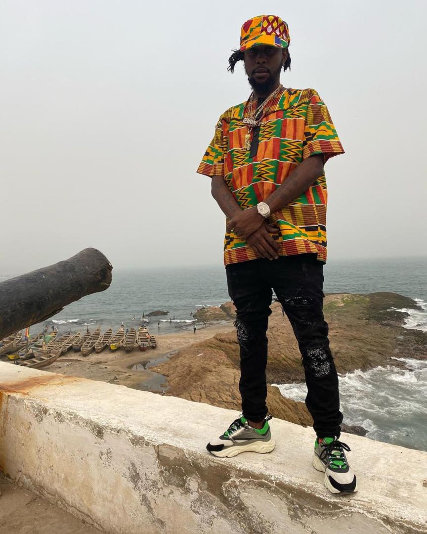 Dancehall Artist Popcaan Standing At The Door Of No Return In Ghana