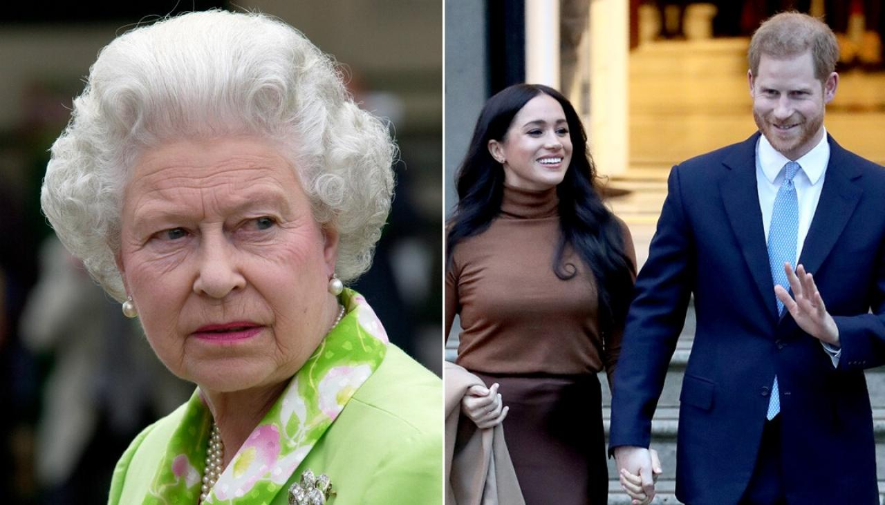 Getty Images: Queen, Harry and Meghan