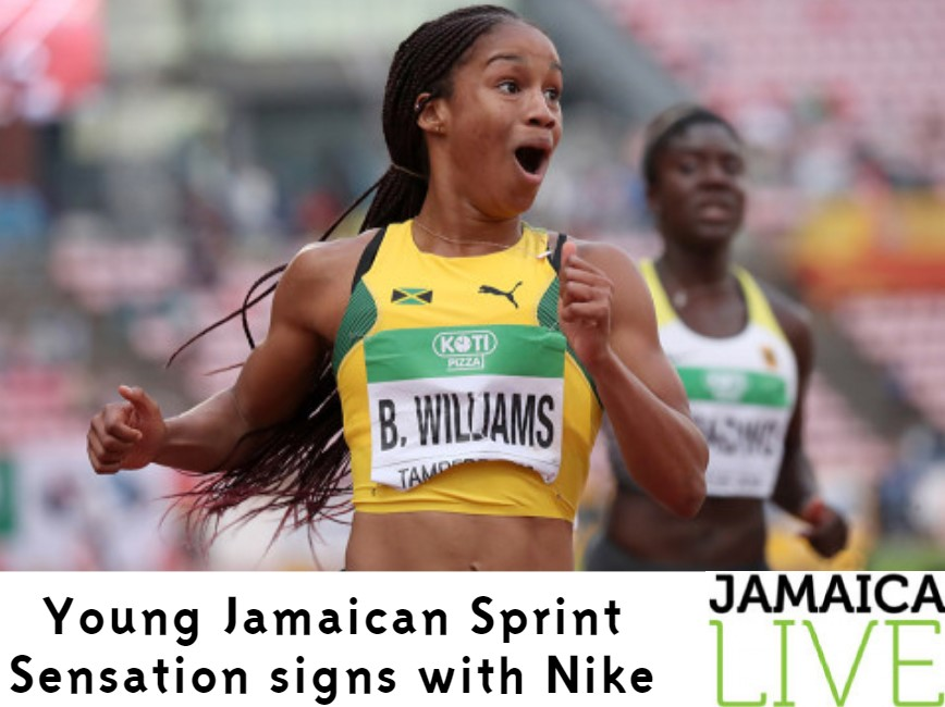 Young Jamaican sprint sensation signs with Nike