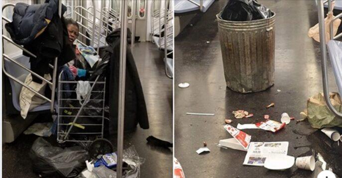 Homeless take over NY Subway