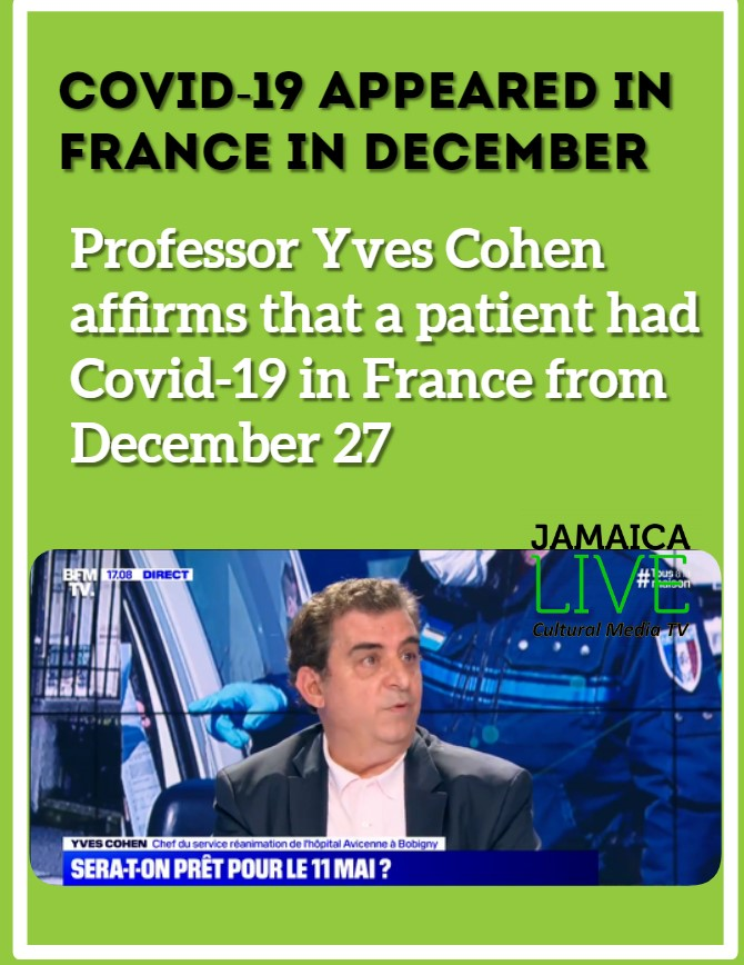 Professor Yves Cohen affirms that a patient had Covid-19 in France from December 27