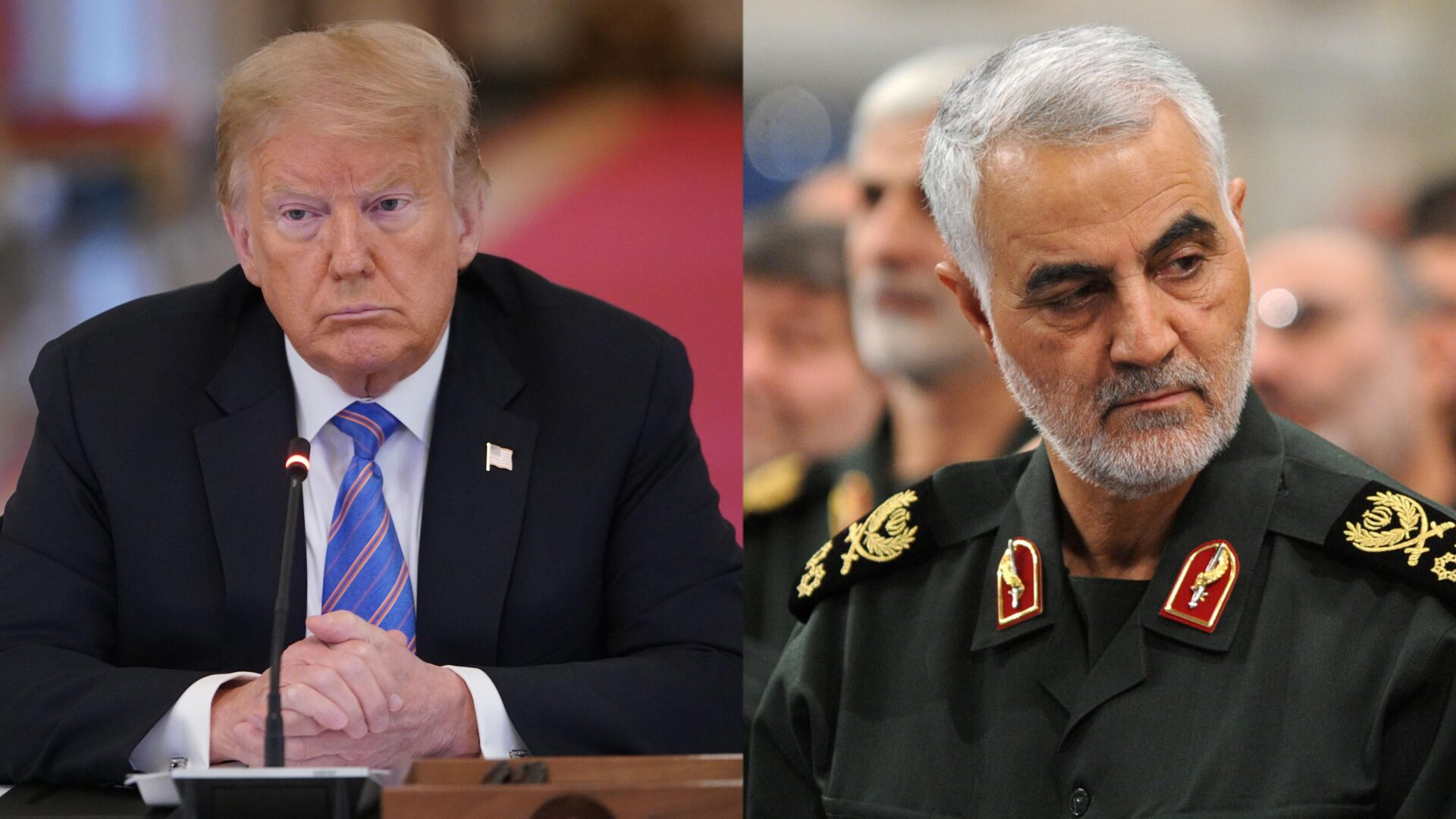 General Qassem Soleimani and President Trump