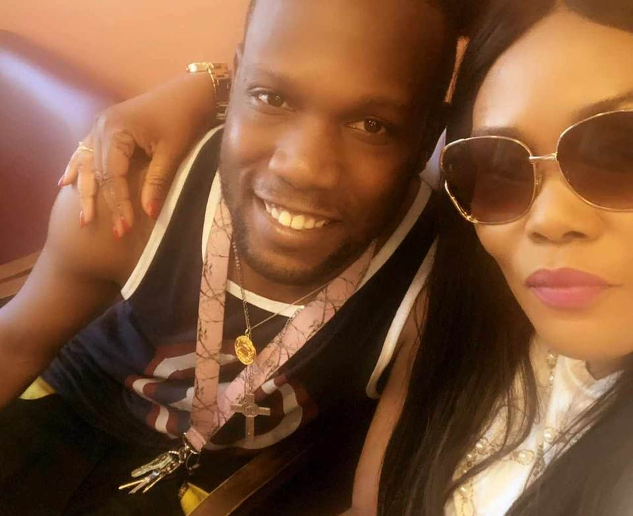 Maurice Gordon, 28, of Poughkeepsie, pictured with his mother, Racquell Barrett of London, was killed by a state trooper on the Garden State Parkway May 23, 2020.Provided
