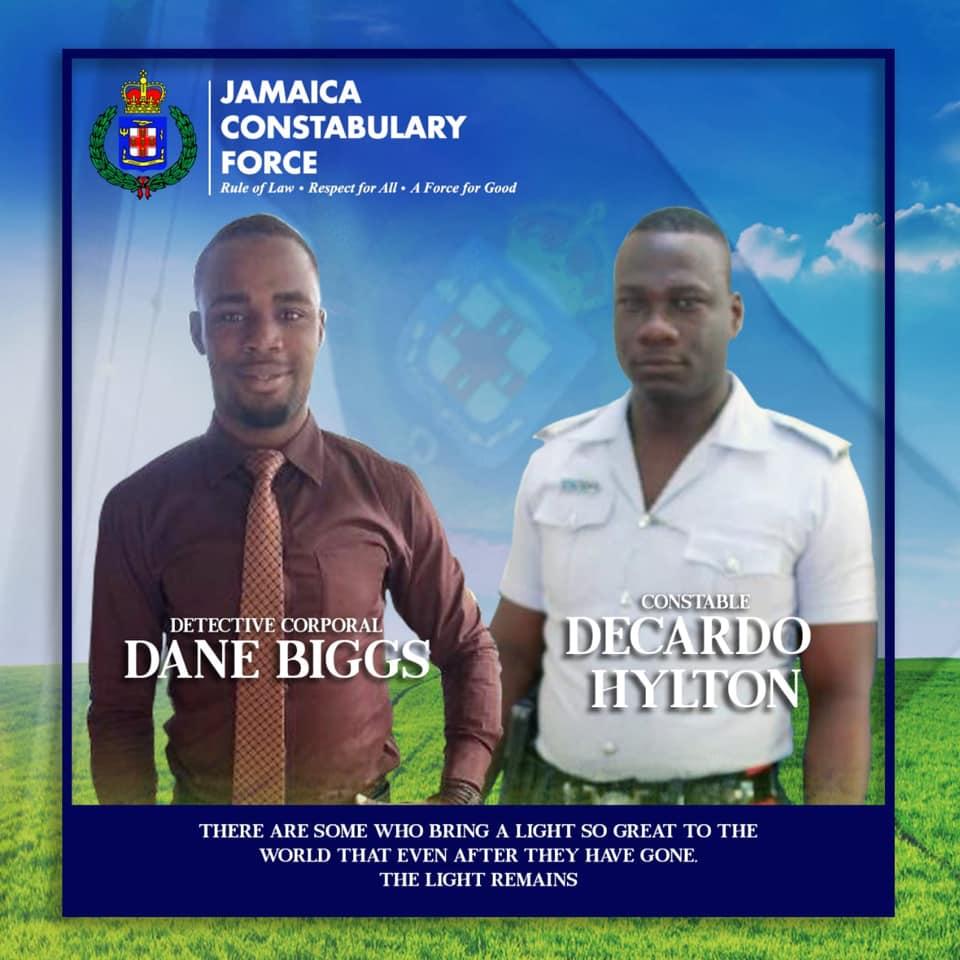 Detective Corporal Dane Biggs and Constable Decardo Hylton