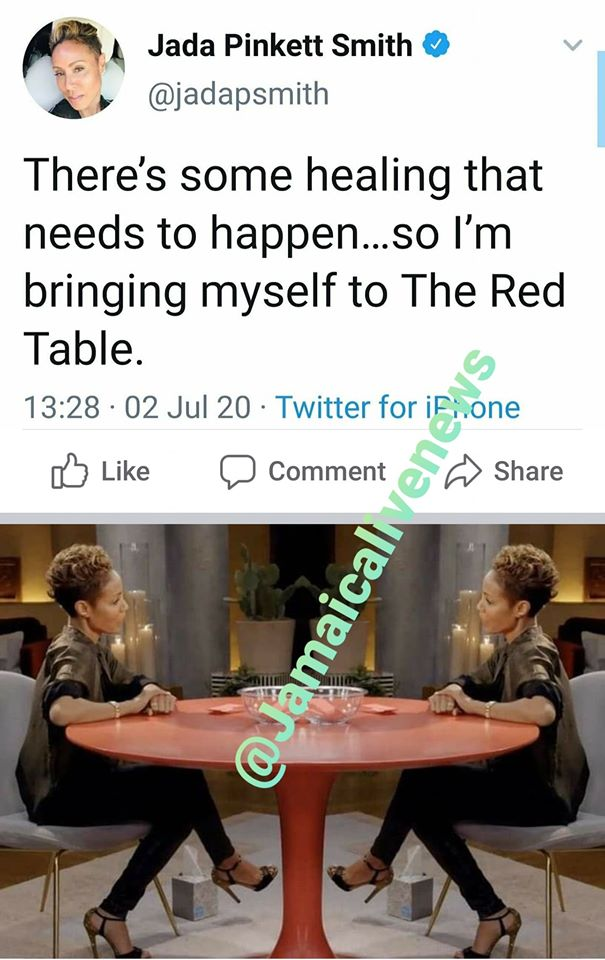 Jada bringing herself to the Red Table