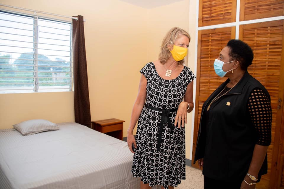 """Minister Hon. Olivia """"Babsy"""" Grange and the Canadian High Commissioner [Her Excellency Laurie Peters]"""