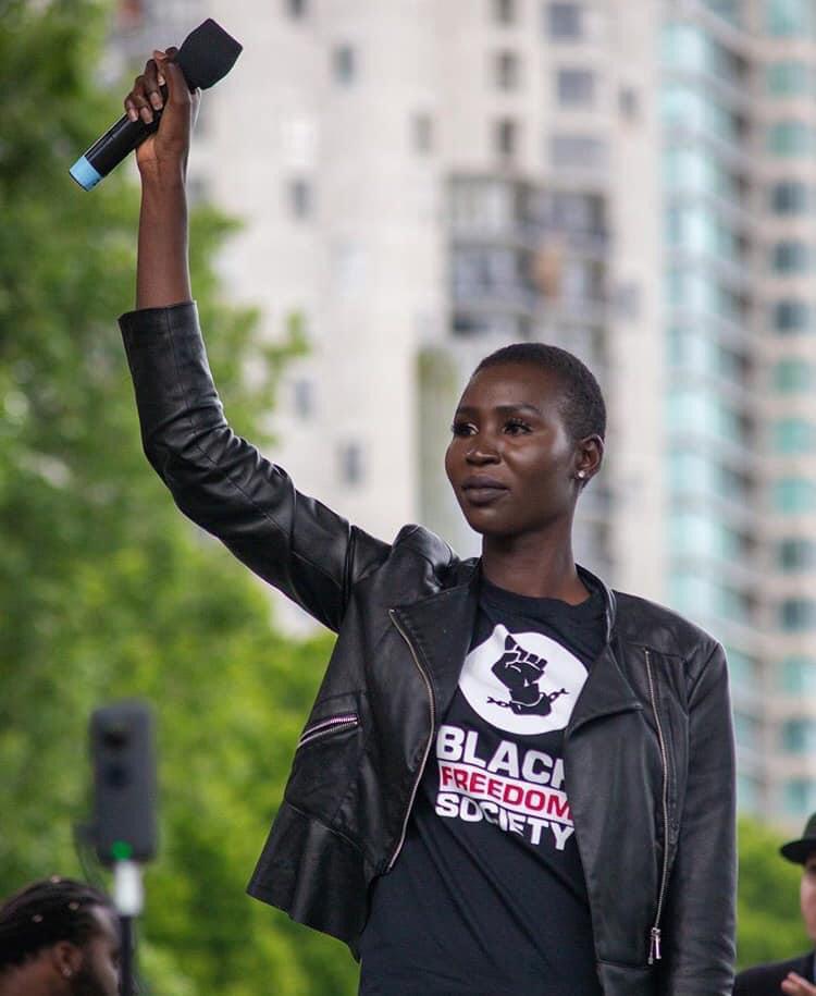 Nova Stevens at a Black Lives Matter Rally