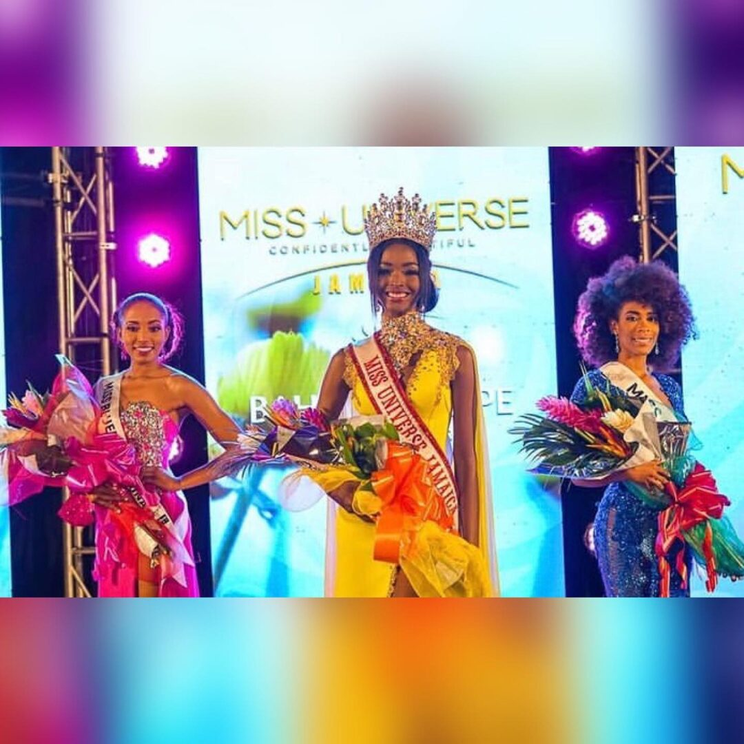 Miqueal-Symone Williams Miss Universe Jamaica 2020.Abigail Pinnock and Monique Thomas 1st and 2nd Runners-up