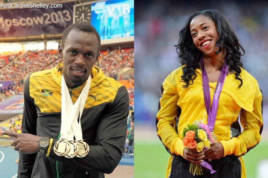 Usain-Bolt and Shelly-Ann Fraser-Pryce